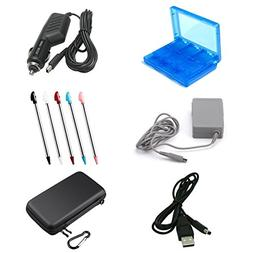 SN-RIGGIR 6 in 1 Accessory kit Hard Travel Case For 3DS XL +