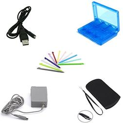 eLUUGIE 5 in 1 Travel charger kit ! Soft bag for nintendo 3d