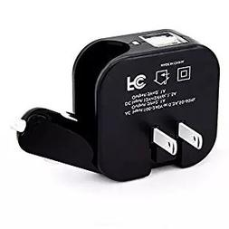 2-in-1 Compact Wall Charger,Car Charger,Travel Charger Dual
