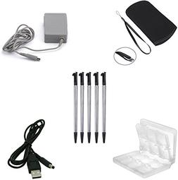 ZYJ-AWASA 5 in 1 Game Accessory kit! Travel Ac Adapter+Soft