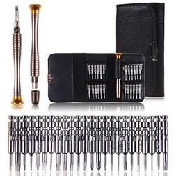 Maxmoral 25 in 1 Precision Screwdrivers Set,with Leather Cas