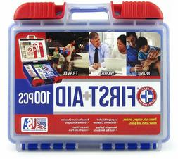 100 Piece First Aid Kit Emergency Medical Survival Bag Trave