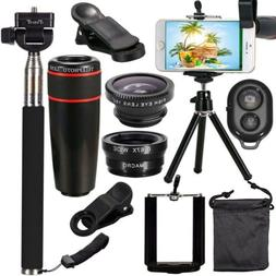 10in1 Accessorie Smart Phone Camera Lens Travel Kit For iPho