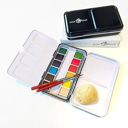 Field Artist Pro 12HP - Complete TRAVEL WATERCOLOR SET inclu