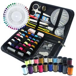 134Pc Travel Home Sewing Kit Case Needle Thread Tape Scissor