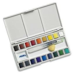 Jerry Q Art 18 Assorted Water Colors Travel Pocket Set- Free