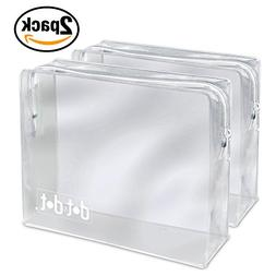 2 TSA Approved Toiletry Bags - 311 Clear Quart Size Bag for