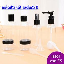 22pcs Makeup Case Spray Bottle Lotion Empty Container Bottle