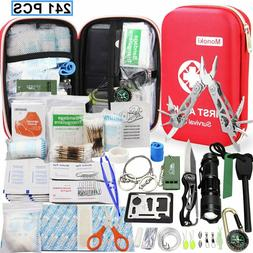 268 Pcs First Aid Emergency Kit Travel Car Outdoor Survival