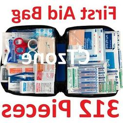 312 pc First Aid Kit Emergency Bag Home Car Outdoor American