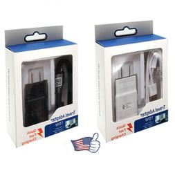 2PCS Home Travel Wall Fast Charger Adapter + Micro USB Type