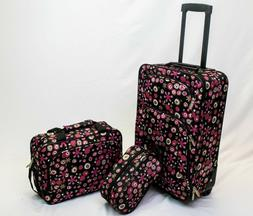in2it 3pc travel luggage set 20in carry on + Tote + Travel k