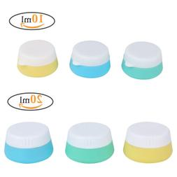 3Pcs Travel Cosmetic Empty Jar Cream Pot Containers Kit Sili