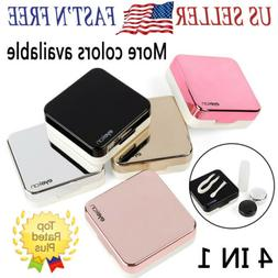 4in1 Contact Lens Travel Case Box Set Container Kit With Mir