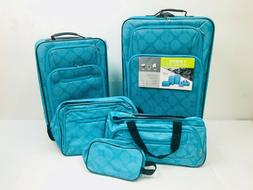 5 Piece Luggage Travel Set Expandable Upright Duffel Flight