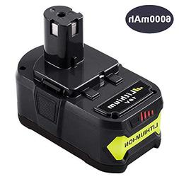 6.0Ah P108 Battery for Ryobi 18V One Plus Battery Replacemen