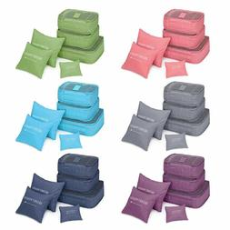 6pcs/kit Travel Set Clothes Laundry Storage Bag Packing Lugg