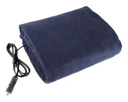 Electric Car Blanket- Heated 12 Volt Fleece Travel Throw for