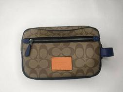 COACH 75915 OVERNIGHT TRAVEL KIT IN SIGNATURE CANVAS WITH NY