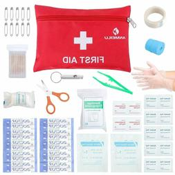 76 Piece Small Travel First Aid Kit Essential for Emergency