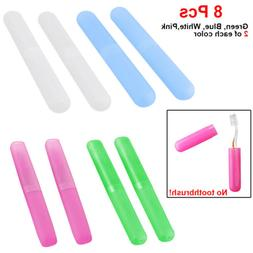 8Pcs Toothbrush Holders Case Travel Kit Camping Cover Tube P