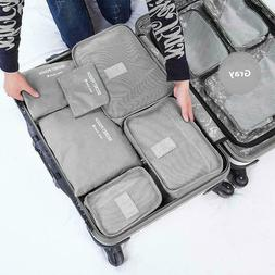 9Pcs Waterproof Travel Storage Bags Clothes Packing Cube Lug