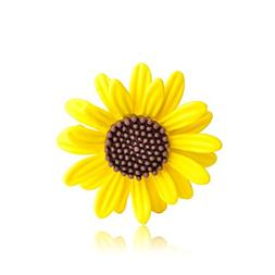 Astral Yellow Sunflower Warm Icon Brooches Pin For Women Cut