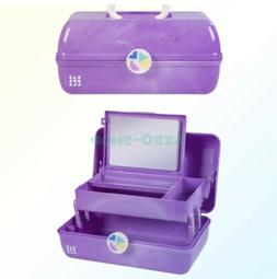 Caboodles On-the-Go Girl Purple Marble Vintage Case, 1 Pound