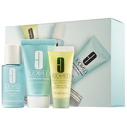 Clinique 3-Step Kit Travel Size - Acne Solutios Cleansing Ge