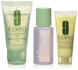 Clinique 3 Steps Travel Size Set for Very Dry to Dry Combina