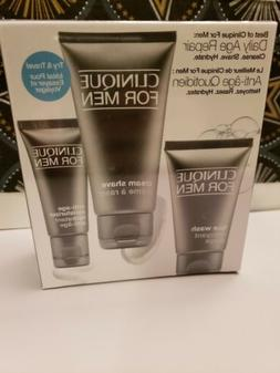 Clinique For Men Daily Age Repair Skincare Set Face Wash Cre