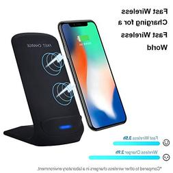 DEESEE NewQi Fast Wireless Charger Rapid Charging Stand Hold