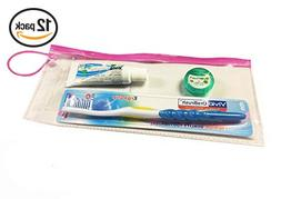 Dental Patient Giveaway or Travel Kit, Container zipper colo