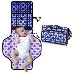 Diaper Changing Pad with Bonus Loop for Toys- Portable Diape