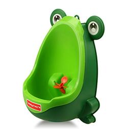 Foryee Cute Frog Potty Training Urinal for Boys with Funny A