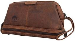 Genuine Leather Travel Cosmetic Bag - Hygiene Organizer Dopp