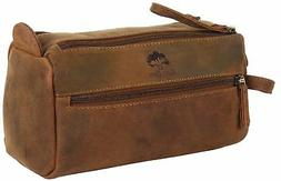 Genuine Leather Travel Toiletry Bag - Hygiene Organizer Dopp