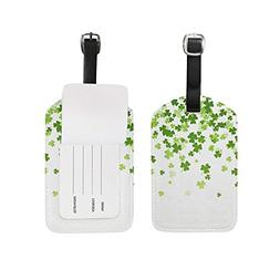 Luggage Tags Hello Lucky Day St Patrick Green Floral Four Le