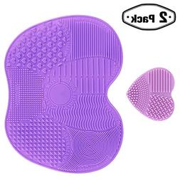 Makeup Brush Cleaner  Brushes Cleaning Dryer Mat Set for Com