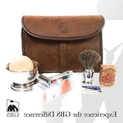 Merkur Deluxe Travel Dopp Kit - #23001 Double Edge Safety Ra