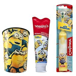 Minions Toothbrush & Toothpaste Bundle: 3 Items - Colgate Po