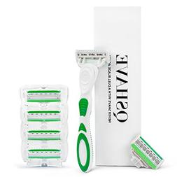 QSHAVE Green Series Women's Shaving Razor with X5 Blade  Rep