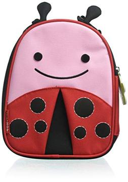 Skip Hop Zoo Kids Insulated Lunch Box, Livie Ladybug, Red