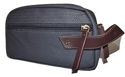 Timberland Men's Fabric & Leather Framed Toiletry Travel Sha