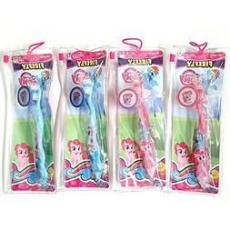 Total 4 sets Toothbrush with Cap and Pouch Travel Kit: My Li