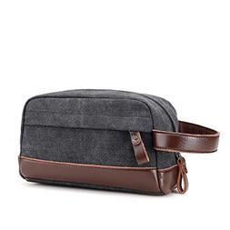 Toupons Toiletry Organizer Bag for Men Canvas Dopp Kits Shav
