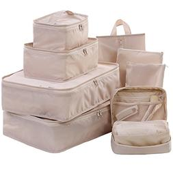 Travel Packing Cubes Set Toiletry Kits Bonus Shoe Bag JJ POW
