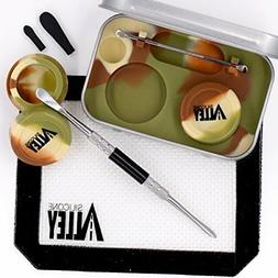 Wax Carving Travel Kit  Nonstick Tin with Silicone Jar Conta