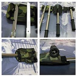 ZZH 4 in 1 Survival Camping Hiking Shovel Axe Saw Gut Knife