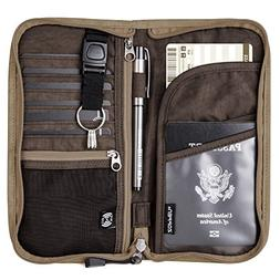 Zoppen RFID Travel Passport Wallet & Documents Organizer Zip